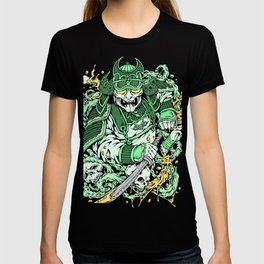 Japanese Samurai with demon mask and sword T-shirt