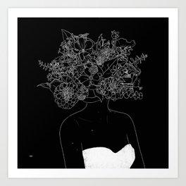 Floriline - reverse Art Print