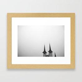 Háteigskirkja Framed Art Print