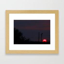 Run Sun  Framed Art Print
