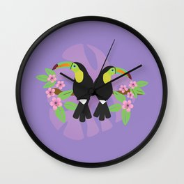 Keel billed toucans couple  Wall Clock