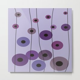 Contemporary Purple Circles Metal Print