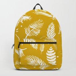 Golden beach palm set pattern Backpack