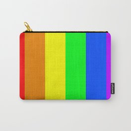 Rainbow flag - Vertical Stripes version Carry-All Pouch