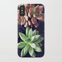 succulents iPhone & iPod Cases featuring Succulents  by Yellow Barn Studio