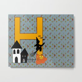 H is for Halloween Metal Print