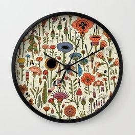 Wildflower Chart Wall Clock