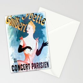 Vintage poster - Yvette Guilbert Stationery Cards
