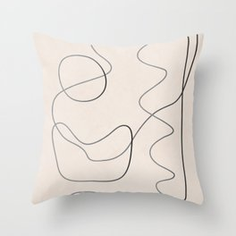 Abstract Line III Throw Pillow