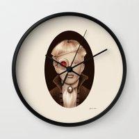 "steampunk Wall Clocks featuring ""Steampunk"" by Giulio Rossi"