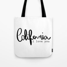 California i love you  Tote Bag