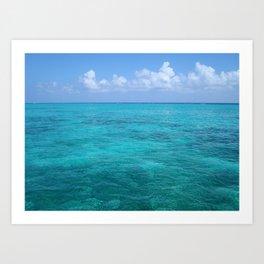 Caribbean Blues Art Print