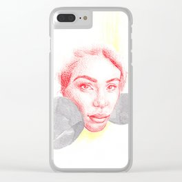 Boxing woman Clear iPhone Case