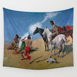 "Frederic Remington Western Art ""Smoke Signals"" Wall Tapestry"