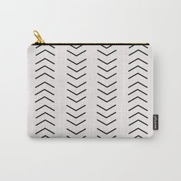 mudcloth pattern white black arrows Carry-All Pouch