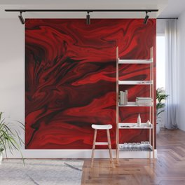Blood Red Marble Wall Mural