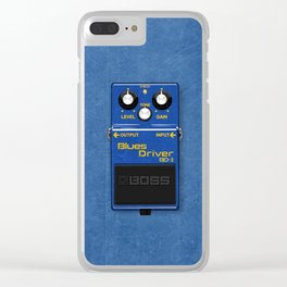 Drivin' the Blues Clear iPhone Case