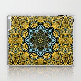Gothic blue pattern Laptop & iPad Skin