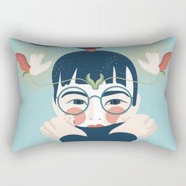 Blossom Girl Rectangular Pillow