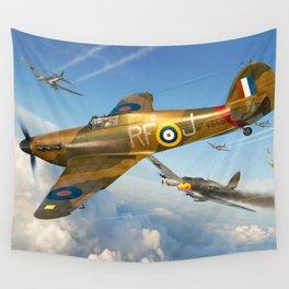 Hawker Hurricane RAF Defense Wall Tapestry