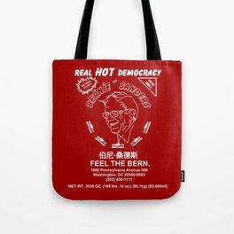 Bernie Sanders Sriracha Style Feel The Bern Tote Bag