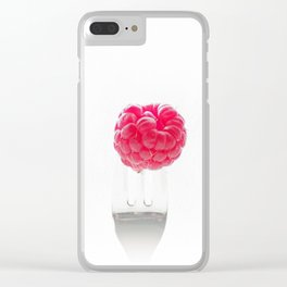 3 fruits, 3 forks Clear iPhone Case