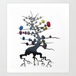 Owlor Wheel Art Print