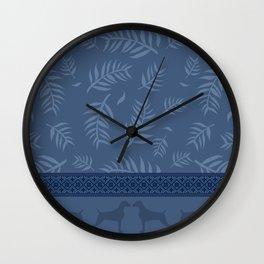 BLUE LEAF WEIM Wall Clock