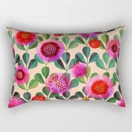 Bright Blooms Modern Hand-Print Floral Rectangular Pillow
