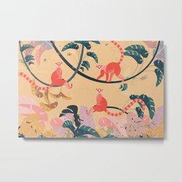 Lemurs in the jungle Metal Print