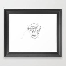 One line monkey Framed Art Print