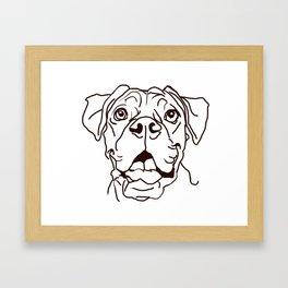 The Boxer Dog Love of my Life Framed Art Print