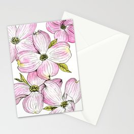 Dogwood Watercolor Illustration Stationery Cards