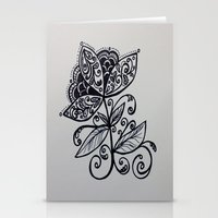 fierce Stationery Cards featuring fierce by lindsay marie