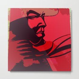 JIBARO SAMURAI RED Metal Print