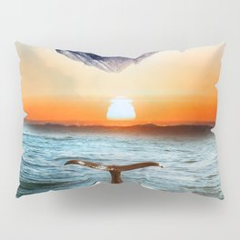 A whale and a morning Pillow Sham