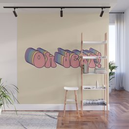 Oh Dear! 70's retro typography Wall Mural