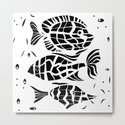 Black and white illustration . Fish . by fuzzyfox85