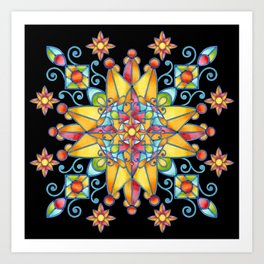 Alhambra Stained Glass Art Print