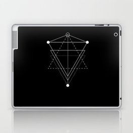 Triangle Planets Black Laptop & iPad Skin