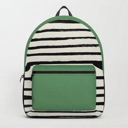 Moss Green x Stripes Backpack