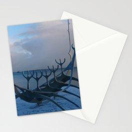 Reykjavik longboat sculpture Stationery Cards