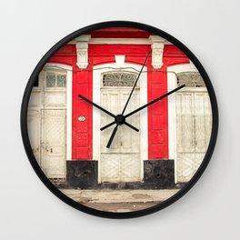 Pick A Door Wall Clock