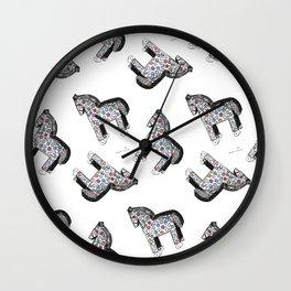 Wooden horse Wall Clock