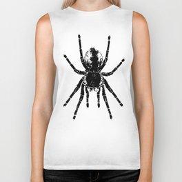 Scary Tarantula Spider Halloween Black Arachnid Biker Tank