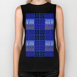 Blue Blocks Pattern #1 Biker Tank