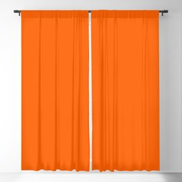 Solid Orange Blackout Curtain