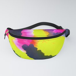 Electric Zebra Abstract Watercolor Fanny Pack