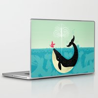 positive Laptop & iPad Skins featuring The Bird and The Whale by Oliver Lake