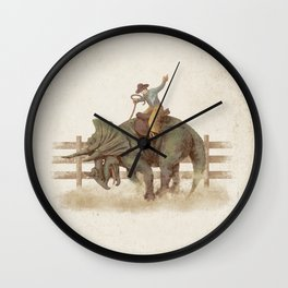 Dino Rodeo  Wall Clock